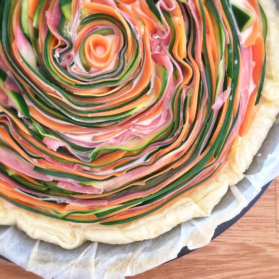 Tarte multicolore aux l gumes les recettes de misa - Idee recette tarte salee ...
