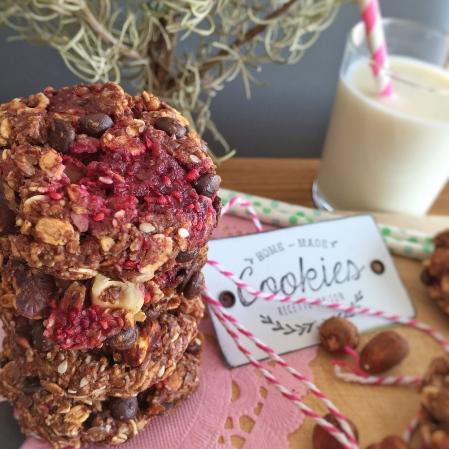 Cookies choco-framboises