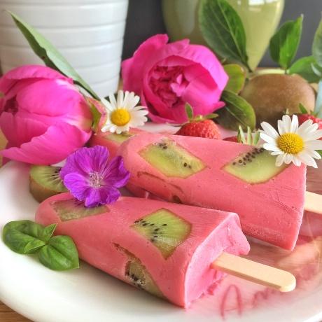 glace fraises kiwi