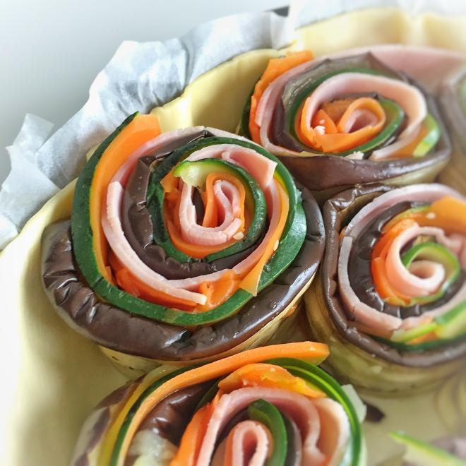 Tarte multicolore aux légumes