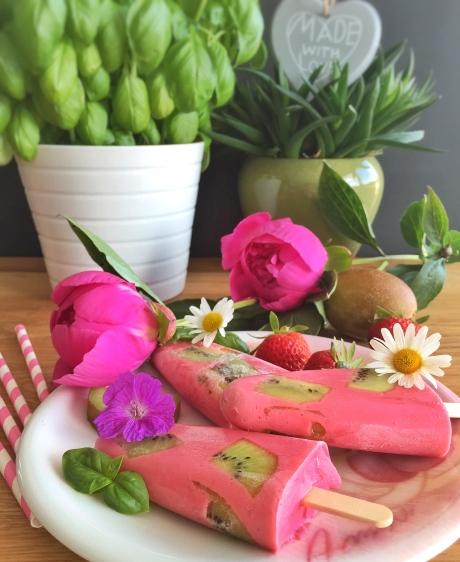 Glace fraise - kiwi