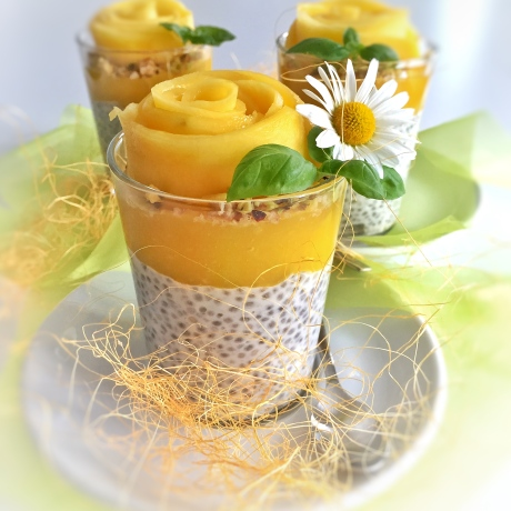 Chia Pudding coco-mangue